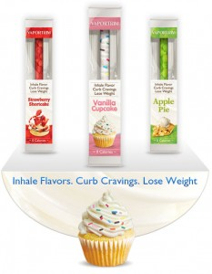 Vaportrim inhaler3 233x300 E Cigarette Technology Inspires Cupcake Inhalers