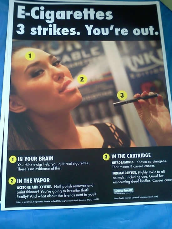 anti e cigarette poster Kentucky University Poster Warns That E Cigarettes Cause Cancer